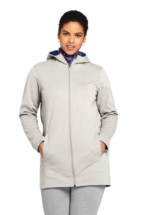 Women's Plus Size Water Resistant Fleece Coat