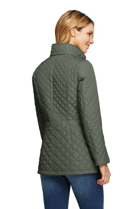 Women's Petite Quilted Insulated Long Jacket