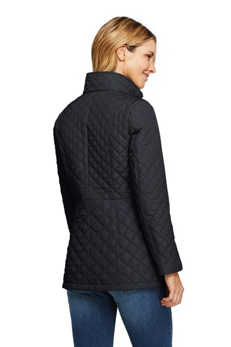 Women's Petite Quilted Barn Insulated Long Jacket