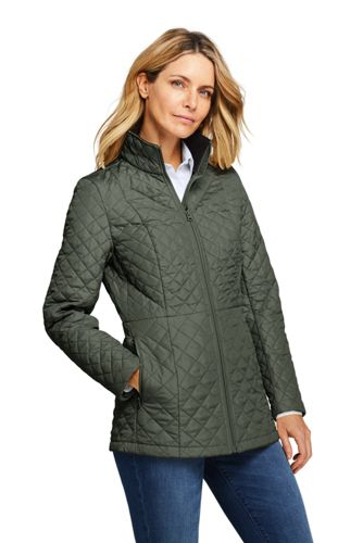 Women's Petite PrimaLoft Packable Long Jacket
