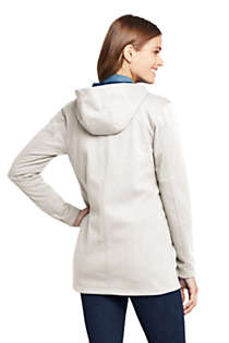 Women's Water Resistant Fleece Coat, Back