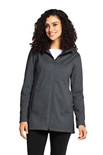 Women's Water Resistant Fleece Coat, Front