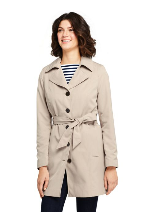 Women's Petite Lightweight Trench Coat
