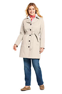 Women's Plus Size Lightweight Trench Coat, Unknown