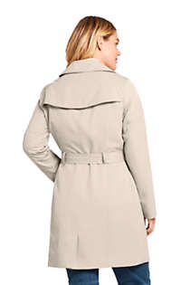 Women's Plus Size Lightweight Trench Coat, Back