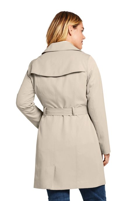 Women's Plus Size Lightweight Trench Coat