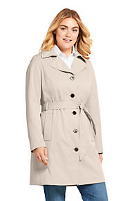 f1afa3d49ec Women s Plus Size Lightweight Trench Coat