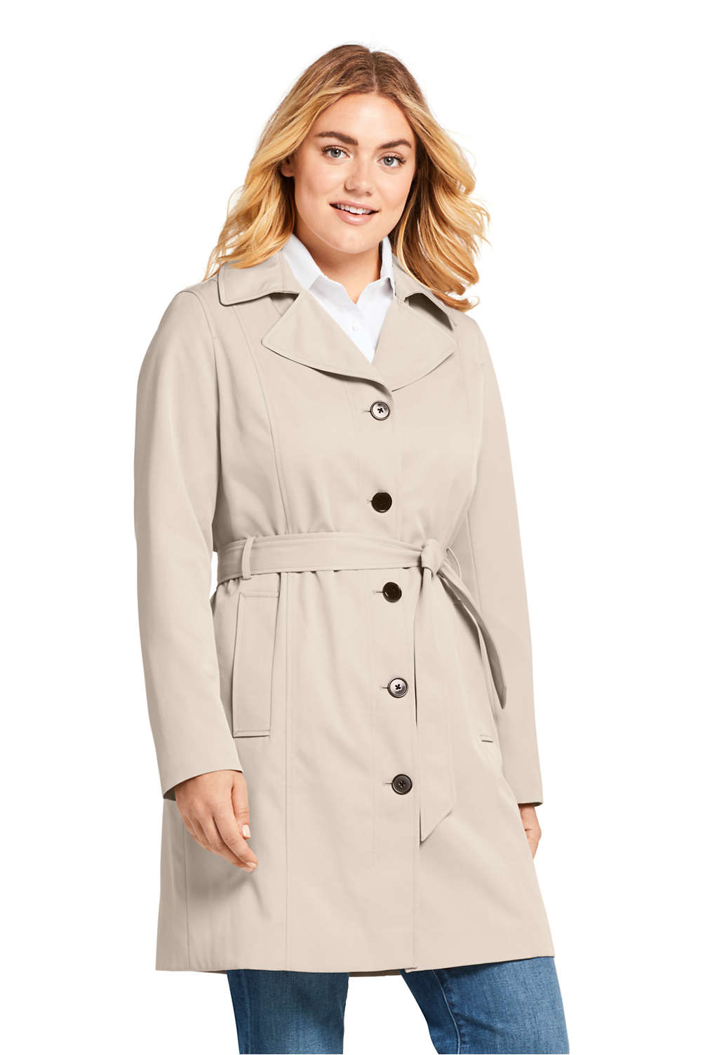 189caadf654 Women s Plus Size Lightweight Trench Coat from Lands  End