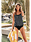 Women's Beach Living Blouson Tankini Top, Print
