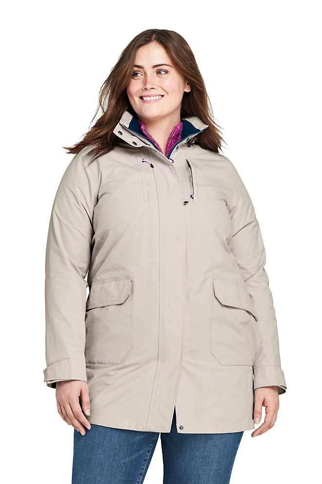 Women's Plus Size Classic Squall Raincoat, Front