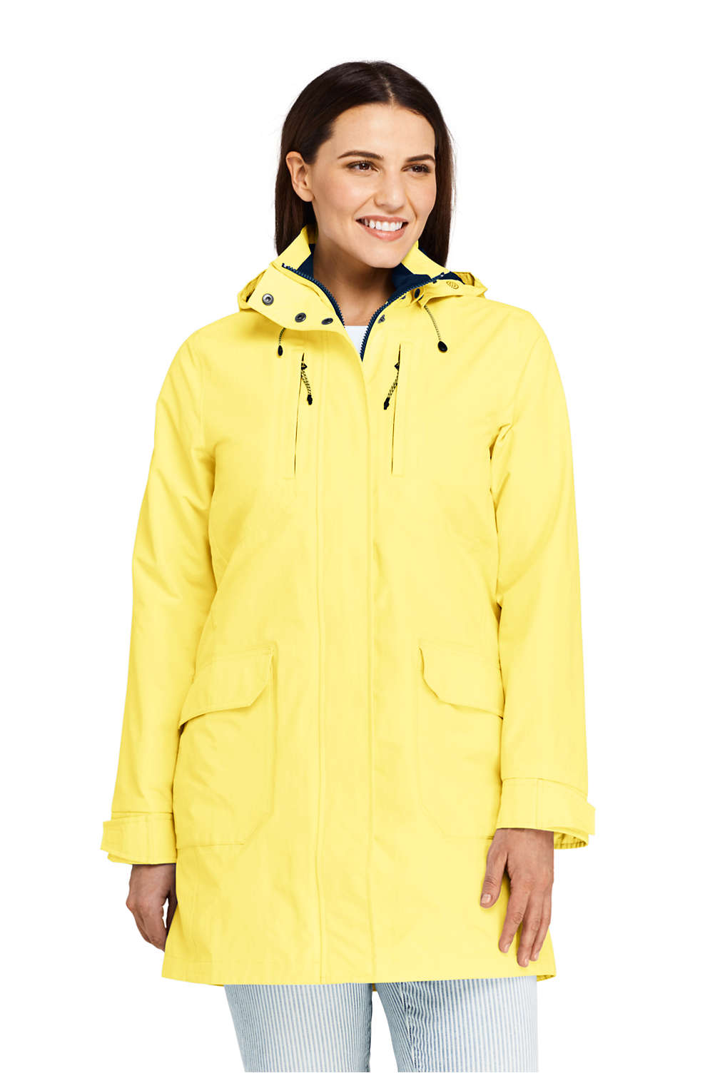 cfb70655e1c Women s Plus Size Lightweight Squall Raincoat from Lands  End