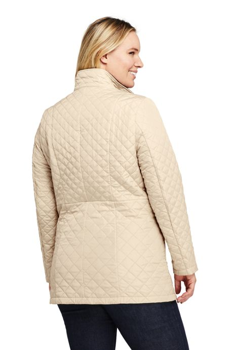 Women's Plus Size Petite Quilted Insulated Long Jacket
