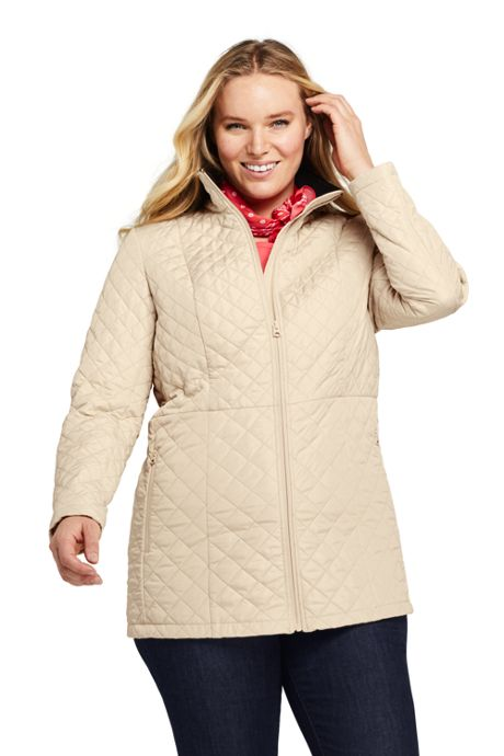 Women's Plus Size Quilted Barn Insulated Long Jacket