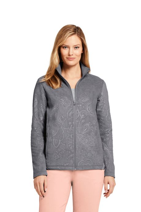 Women's Lightweight Fleece Jacket Embossed