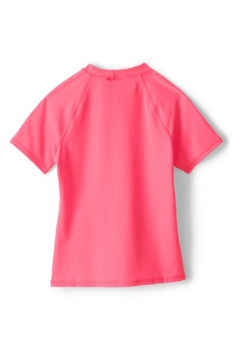 Little Girls Graphic Mock Neck Rash Guard