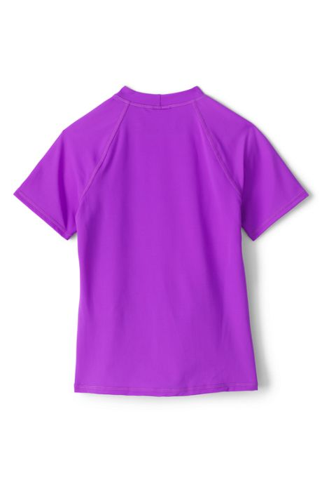 Girls Slim Graphic Mock Neck Rash Guard