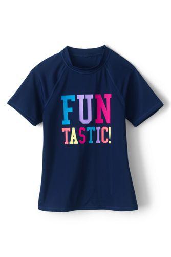 T-Shirt Graphique Protection Solaire, Fille