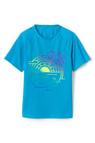 Little Girls Graphic Mock Neck UPF 50 Sun Protection Rash Guard