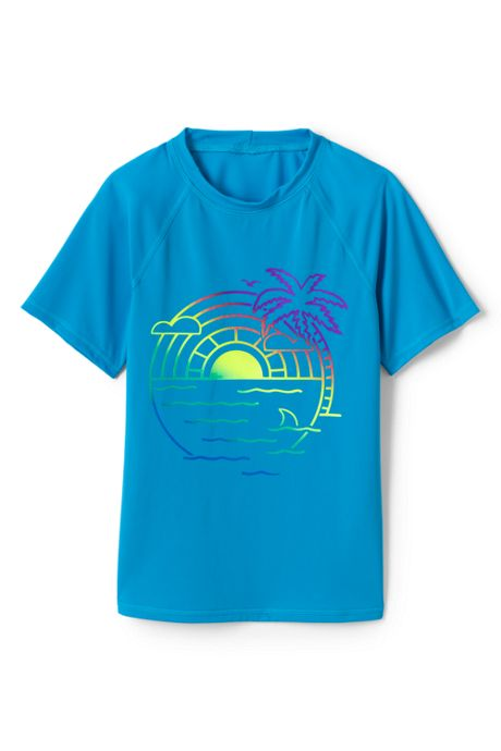Girls Plus Graphic Mock Neck UPF 50 Sun Protection Rash Guard