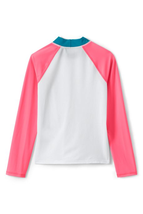 Girls Graphic Mock Neck Rash Guard