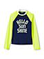 Toddler Girls' Long Sleeve Graphic Rash Vest
