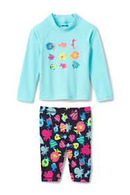 Toddler Girls Graphic Rash Guard and Capri Set