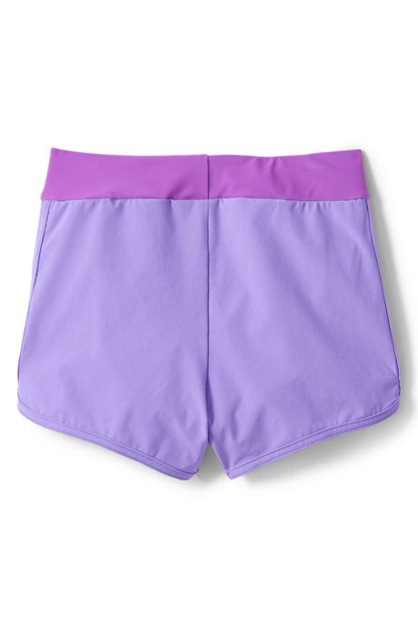 Girls Slim Comfort Waist Stretch Swim Short