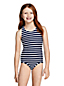 Girls' Essential Cross-back Swimsuit, Pattern