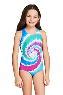 Girls Racerback One Piece Swimsuit, Front