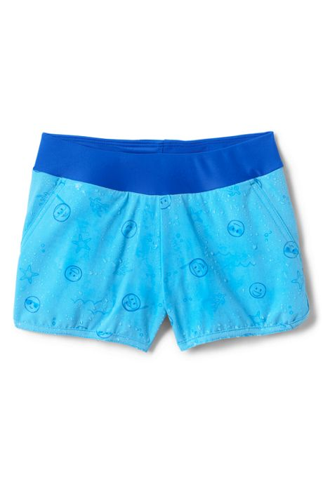 Girls Comfort Waist Magic Print Swim Shorts