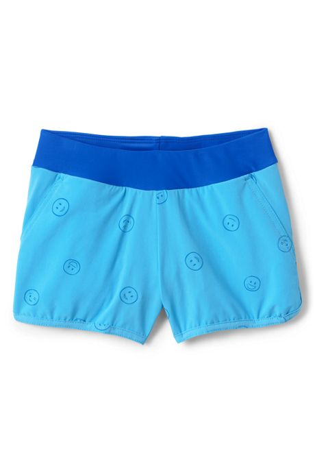 Little Girls Comfort Waist Magic Print Swim Shorts