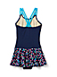 Toddler Girls' Hearts Skirted Cross-back Swimsuit