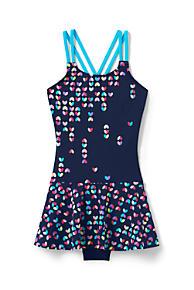 2292f270c41 Girls Cross Back Skirted One Piece Swimsuit