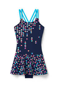 Little Girls Mix and Match Skirted One Piece Swimsuit