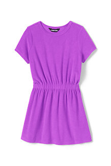 Girls' Towelling T-shirt Dress Cover-up