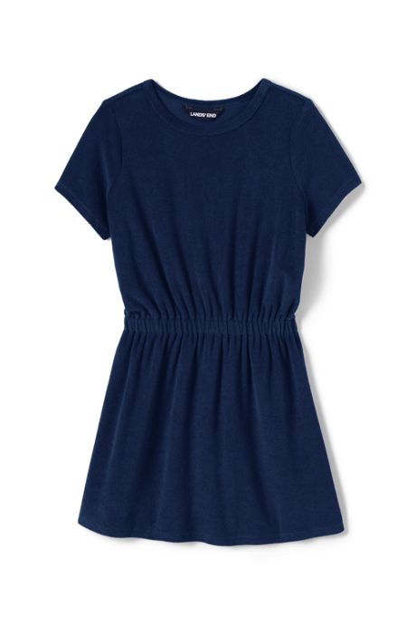 Girls Terry Dress Swim Cover-Up