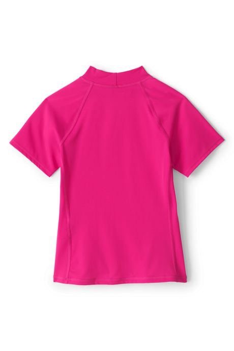 Girls Slim Mock Neck Rash Guard