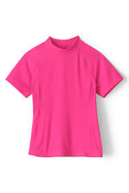 Girls Mock Neck Rash Guard