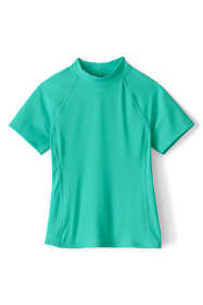 Girls Plus Mock Neck UPF 50 Sun Protection Rashguard