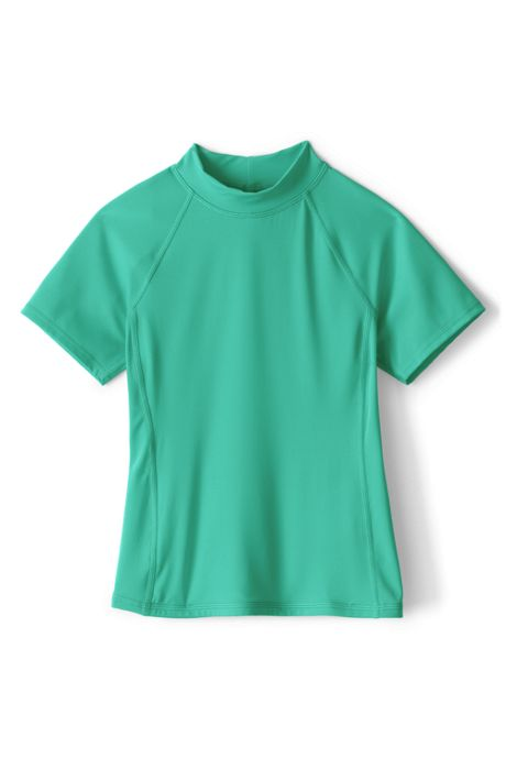 Little Girls Mock Neck Rash Guard