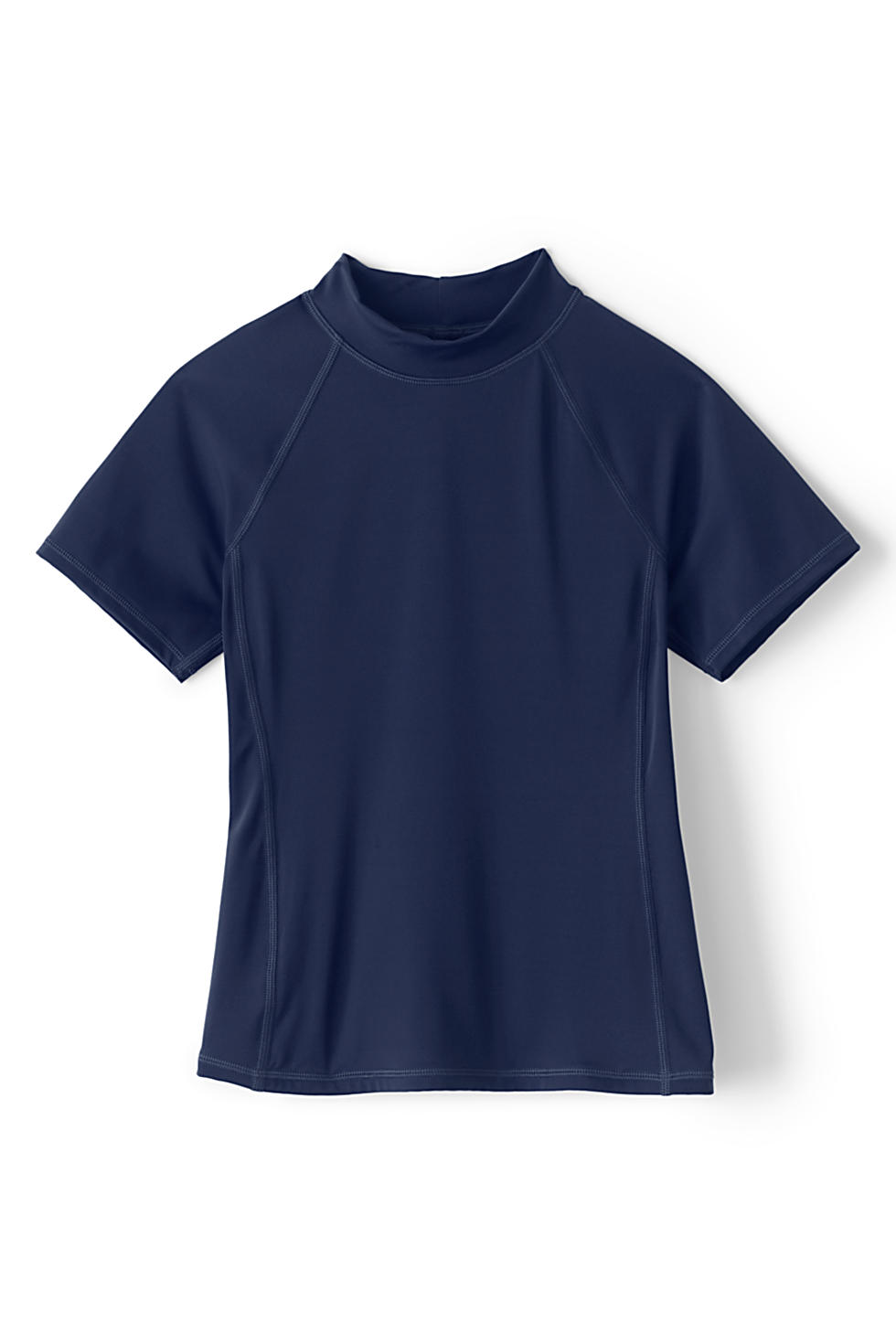 Lands' End : Girls Mock Neck UPF 50 Sun Protection Rashguard $1.20