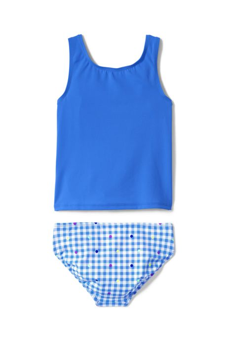 Girls Graphic Tie Front Tankini Set