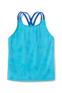 Girls Magic Print Cross Back Tankini Top, alternative image