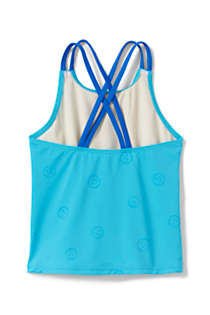 Girls Magic Print Cross Back Tankini Top, Back