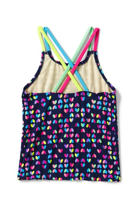 Toddler Girls Cross Back Tankini Top