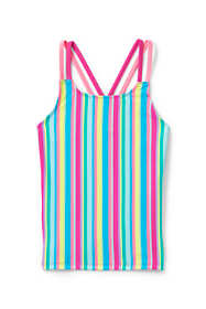 Girls Plus Cross Back Tankini Top