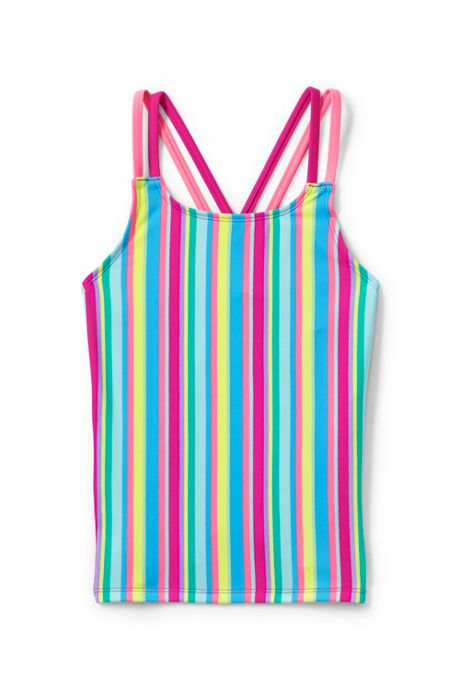 Little Girls Cross Back Tankini Top