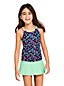 Girls' Mix & Match Cross-back Patterned Tankini Top