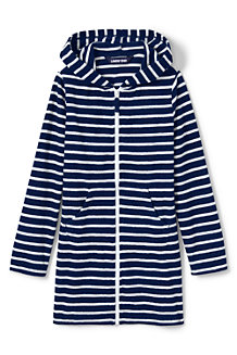 c01a542e34 Girls' Terry Stripe Hooded Cover-up