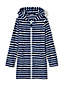 Girls' Terry Stripe Hooded Cover-up